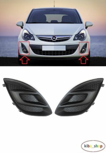 RIGHT VAUXHALL OPEL CORSA 2011-2014 FRONT BUMPER FOG LIGHT COVERS GRILL LEFT