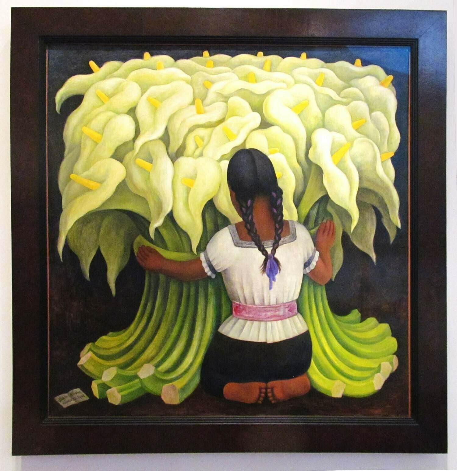 US SELLER-Diego Rivera The Vendor of Alcatraces art poster lounge room accent