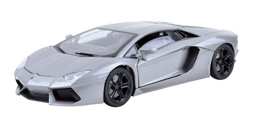 1 18 Lamborghini Aventador LP700-4 Silver  - Motormax Scale Diecast Model