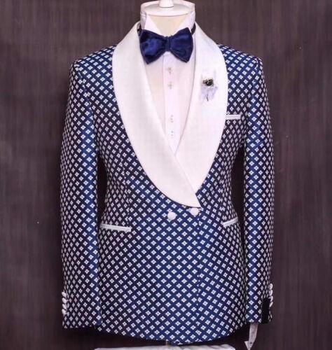 Men/'s Geometric Pattern Shawl Lapel Formal Party Occasion Tuxedos Slim Fit Suit