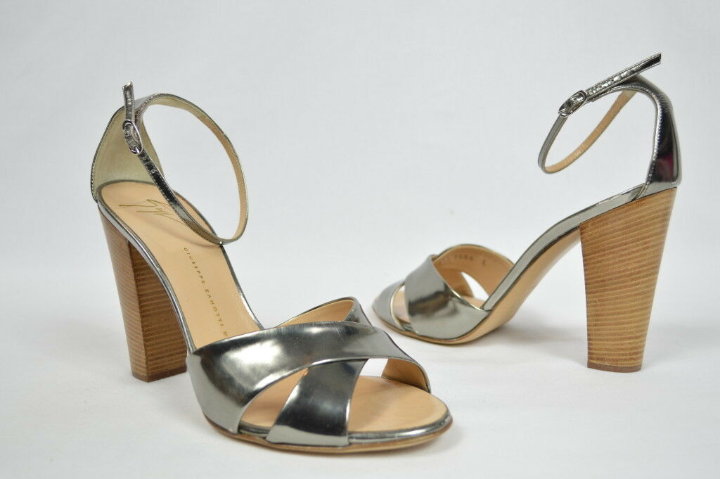 Giuseppe Zanotti schuhe heels pumps marry janes silver strappy criss cross