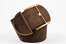 Dolce & Gabbana Brown Suede Wide Belt SZ 80/32