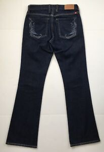 Lucky-Brand-Low-Rise-Boot-Cut-Jeans-Dark-Wash-Stretch-Denim-Women-s-Size-2-26