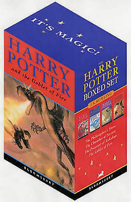 Harry Potter Box Set:Books 1-4 by J. K. Rowling.Excellent condition!RRP £25 new