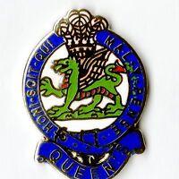 Enamel Lapel Badge Queens Regiment