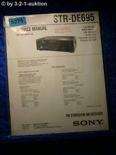 Sony Service Manual STR DE695 FM/AM Receiver (#5271)