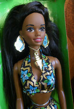 NIB / MINT - Barbie Noire AA CHRISTIE de la collection 'TROPICAL BSPLASH' - 1994