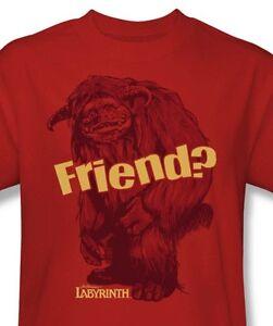Labyrinth-Ludo-Friend-T-shirt-retro-80s-cool-graphic-printed-cottom-tee-LAB112