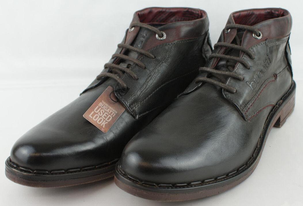 Bugatti Leandro Herren Schuhe Boots Echtleder Farbe dunkelbraun Gr.45 //* 103