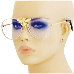 Big Bee Rivet Pilot Sunglasses Oversize Metal Vintage Gradient Summer Shades NEW