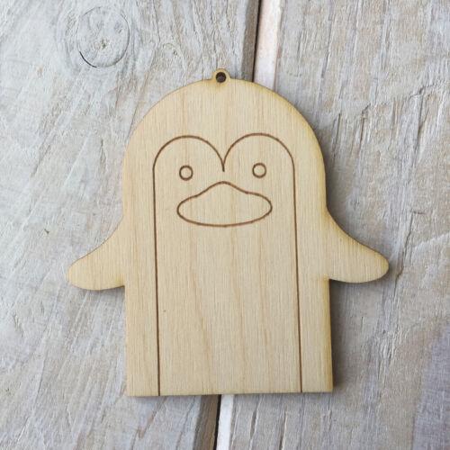 Étiquettes de Noël en bois contreplaqué décorent des décorations de Noël en bois bricolage 4 PACK