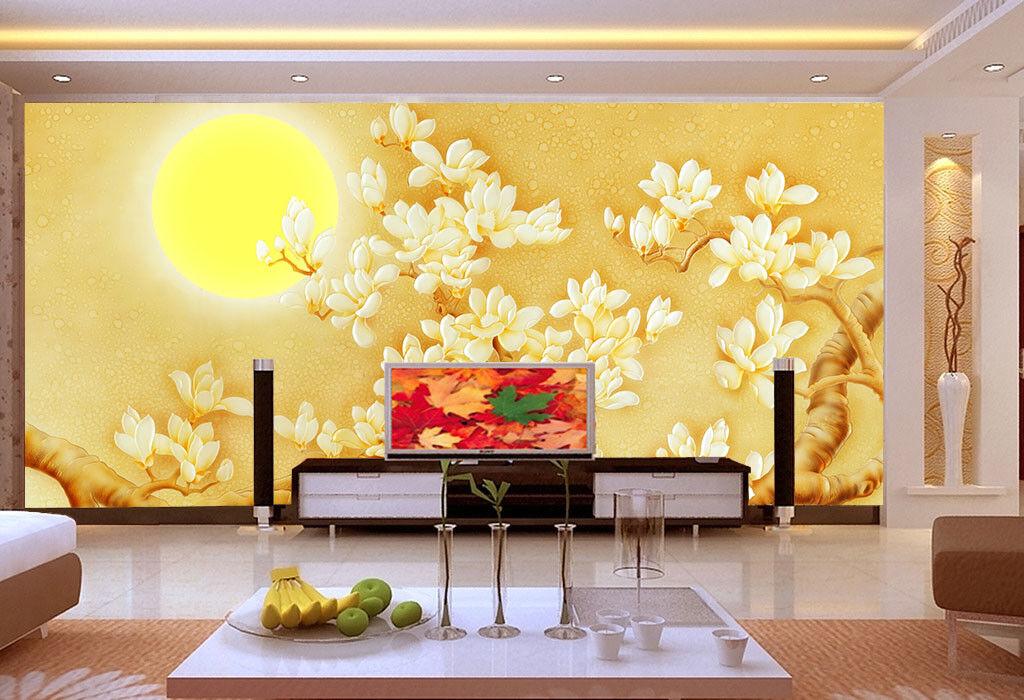 3D Sun Fowers Tree 71 Wall Paper Murals Wall Print Wall Wallpaper Mural AU Kyra