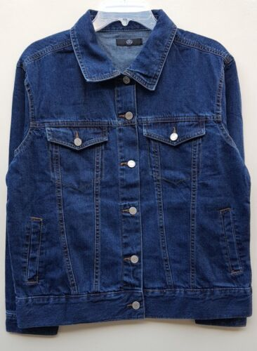 WOMEN/'S BRAND NEW MISSGUIDED DENIM JACKET SIZE UK 14 DARK BLUE