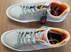 LEVI'S MEN'S GREY   ORANGE TURNER CASUAL COMFORT SHOES SIZE 11 - NEW ... 8e3502c8ee29