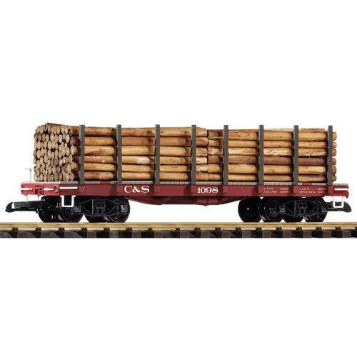 PIKO C&S Stake Wagon w  Log Load 1098 G Gauge 38745