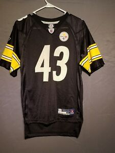 big sale fbe27 08fc2 Details about Reebok NFL Pittsburgh Steelers Troy Polamalu Football Jersey  Youth Large