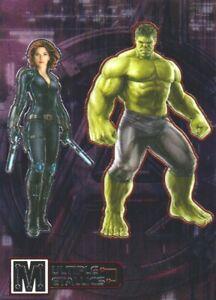 2015 Avengers Age of Ultron Multiple Metallics Double #MD-1 Hulk/Black Widow