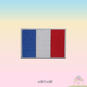 France National Flag Embroidered Iron On Patch Sew On Badge