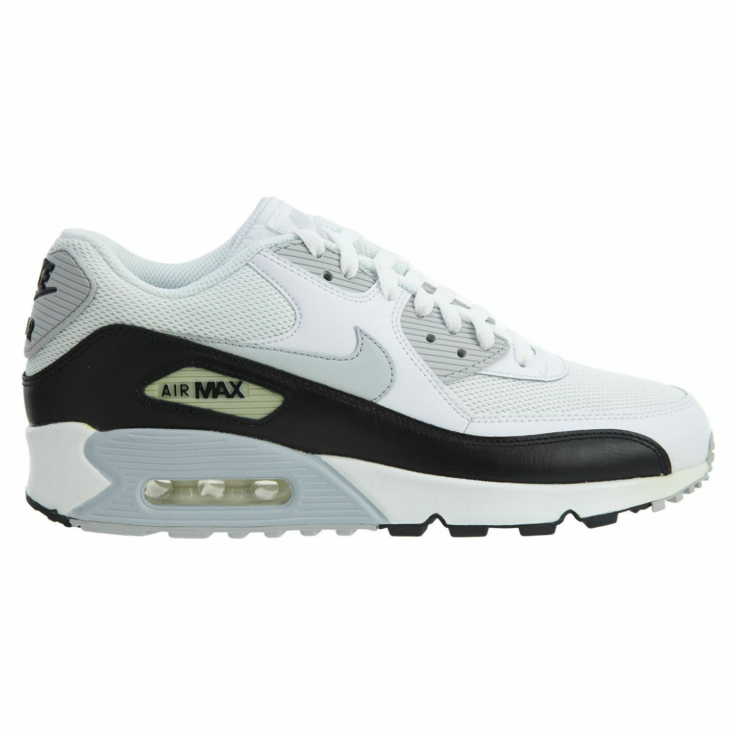 Nike Air Max 90 Essential Mens 537384-125 White Platinum Running Shoes Size 7.5