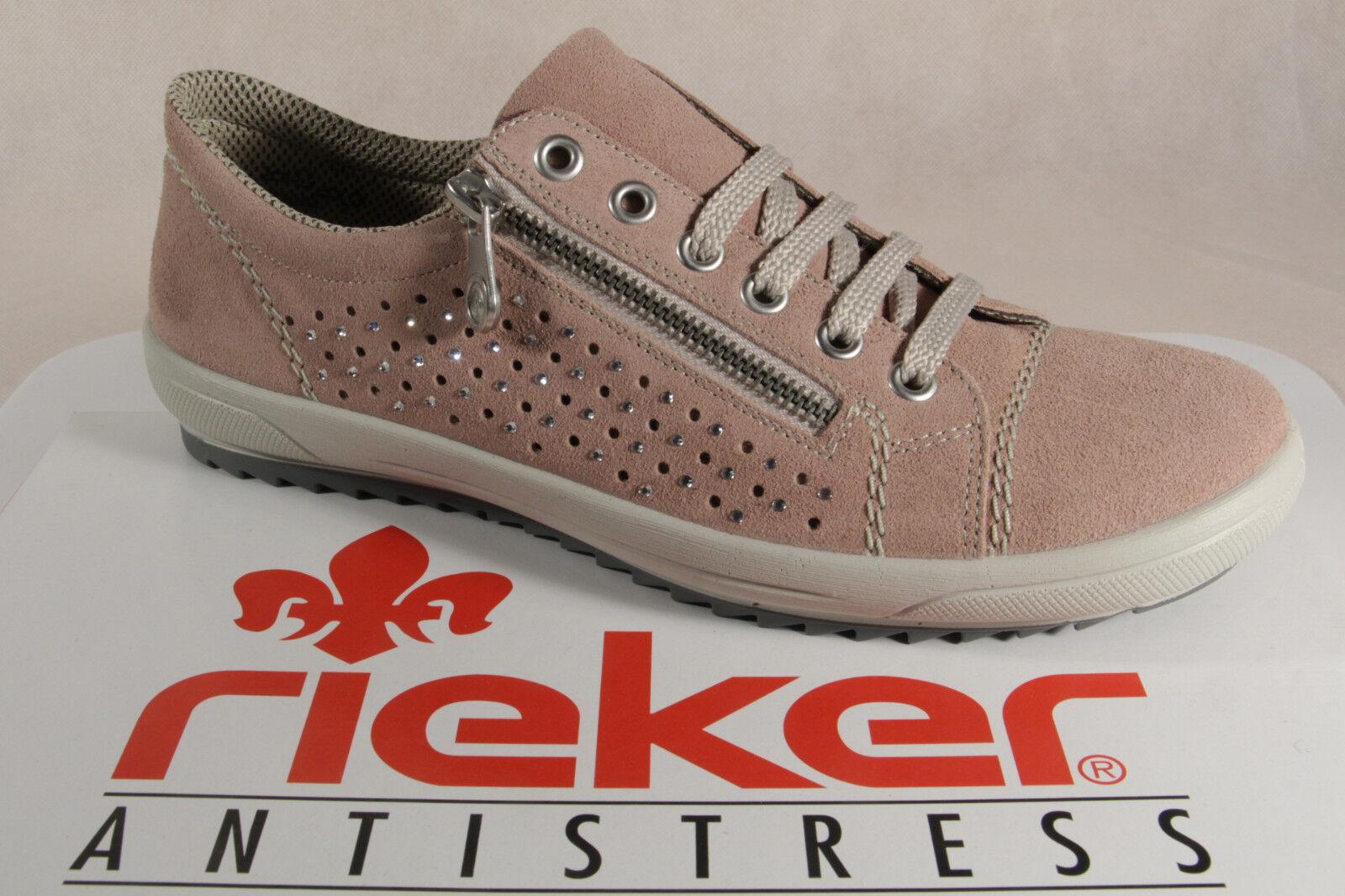 vendite calde Rieker Scarpe Scarpe Scarpe con Lacci da Donna Scarpe da Ginnastica Basse rosa, M6003 Nuovo  più sconto