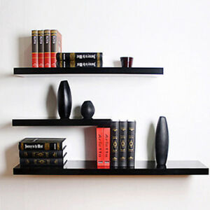 3-Pcs-High-Floating-Wall-Mounted-Display-Shelf-Bookshelf-Storage-Holder-Black