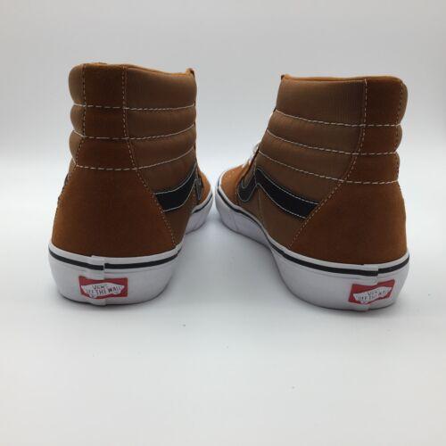 Vans negro Sk8 hi Glaseado Pro Hombre Zapatos blanco jengibre rxOUrpwq
