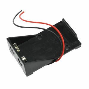 9V-Volt-Black-Battery-Clip-Holder-Box-Case-Cover-with-Wire-Wire-Cabl-Lead-P-F6Q4