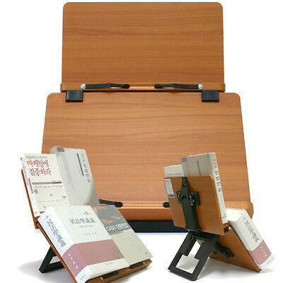 Book Stand Portable Wooden Reading Holder Cookbook Desk Bookstand - Jasmine Plus