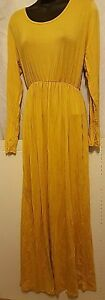 Rags-amp-Couture-Women-039-s-Ruched-Dress-Mustard-Small