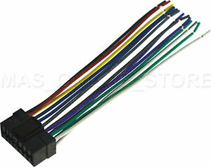 wire harness for sony cdx gt66upw cdxgt66upw pay today ships today ebay
