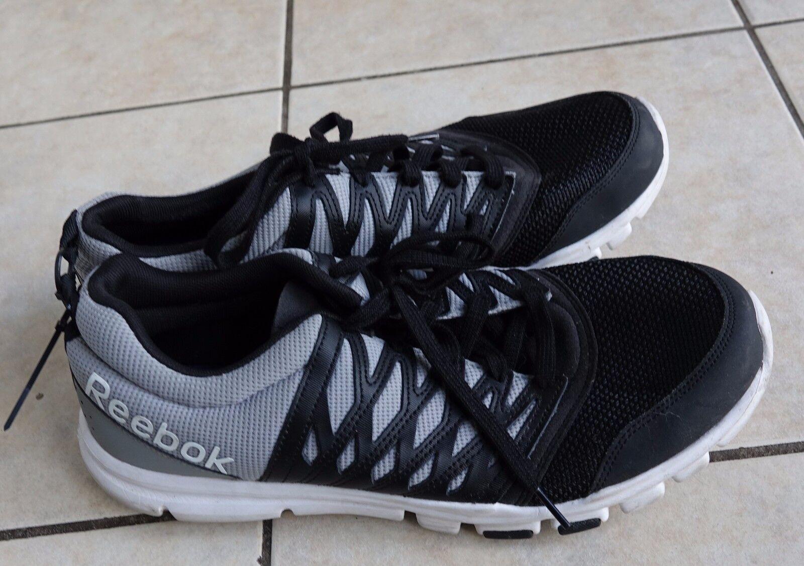 Reebok Yourflex Train RS 5.0l Black/flat Grey/white Training sneaker shoes, 13