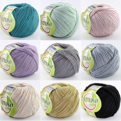 100g Weiche Wolle BAMBUMM CLASS Lanoso 60/%Bamboo//Viskose 40/%Baumwolle 140m //100g
