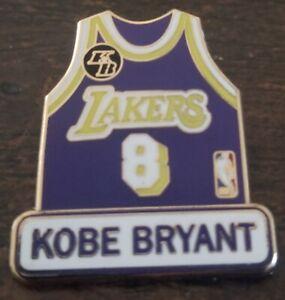 LOS ANGELES LAKERS KOBE BRYANT PURPLE #8 JERSEY KB LAPEL HAT PIN ...