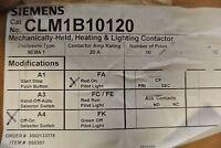 Siemens Mechanically Held Contactor Clm1b10120 Nema 1 20 A Rating 10 Poles
