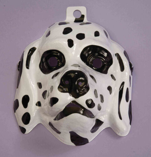 Dalmatian Dog Mask Plastic Front Face Mask Child to Adult Size Animal Mask