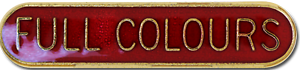 Full Colours Pin Badge in Red Enamel With Rounded Edge