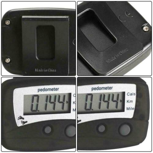 Black LCD Running Step Pedometer Walking Distance Calorie Counter F5X3 N6Y9