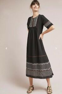 4585a6b95ef18 Image is loading NEW-228-Anthropologie-Nash-Patterned-Peasant-Dress-Size-