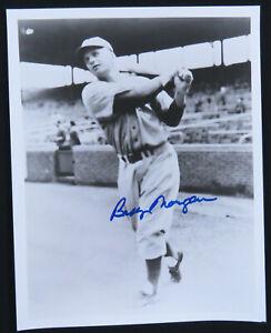Bobby-Morgan-Brooklyn-Dodgers-Baseball-Autographed-Signed-8x10-B-amp-W-Photo