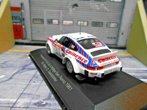PORSCHE 911 SC Rallye Gr.4 San Remo 1981 Eminence #1 Röhrl Almeras IXO 1:43