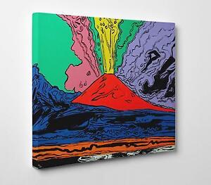 Andy-Warhol-Vesuvius-Stampa-su-Tela-Canvas-Vernice-Pennellate-Poster-su-Tavola