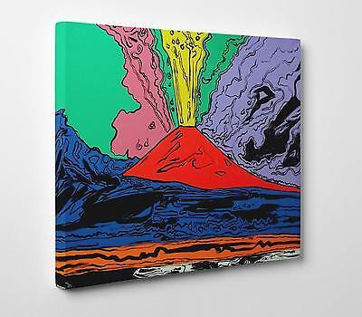 Andy Warhol Vesuvius Stampa su Tela Canvas Vernice Pennellate Poster su Tavola