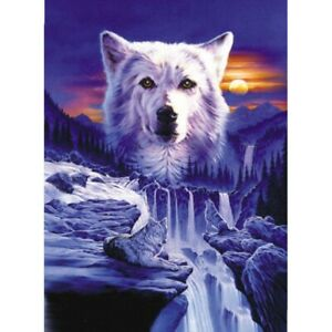 Full-Round-Drill-5D-Diy-Diamond-Painting-034-Wolf-Scenery-034-Embroidery-Cross-S-G0H5
