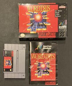 WORDTRIS-Super-Nintendo-SNES-Game-Cartridge-Instruction-Manuel-amp-Box