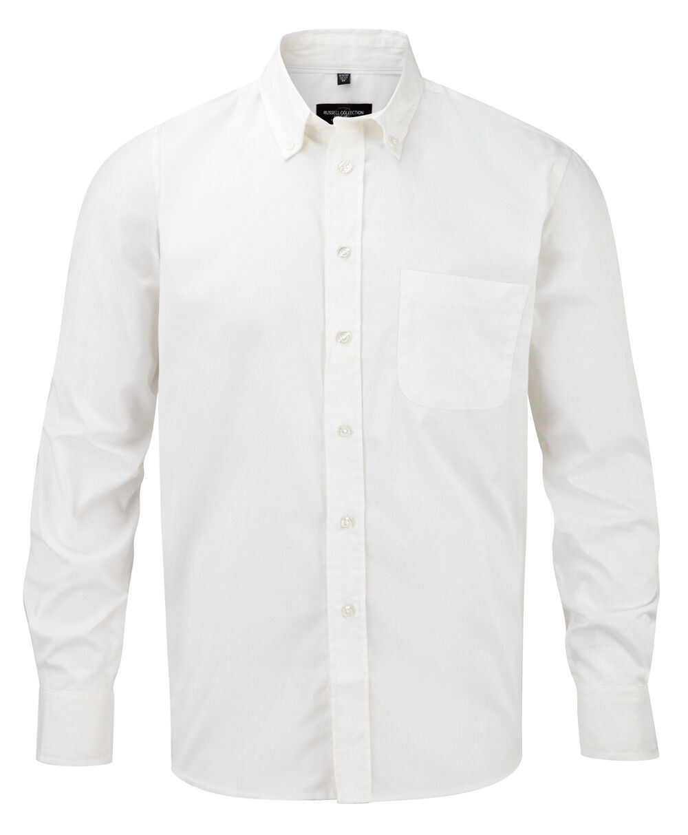 Herren Herren Blau Schwarz Beige Weiß Grau Langärmlig Baumwolltwill Hemd Hemd Hemd BlauSE | Spielzeugwelt, glücklich und grenzenlos  | Charmantes Design  408333