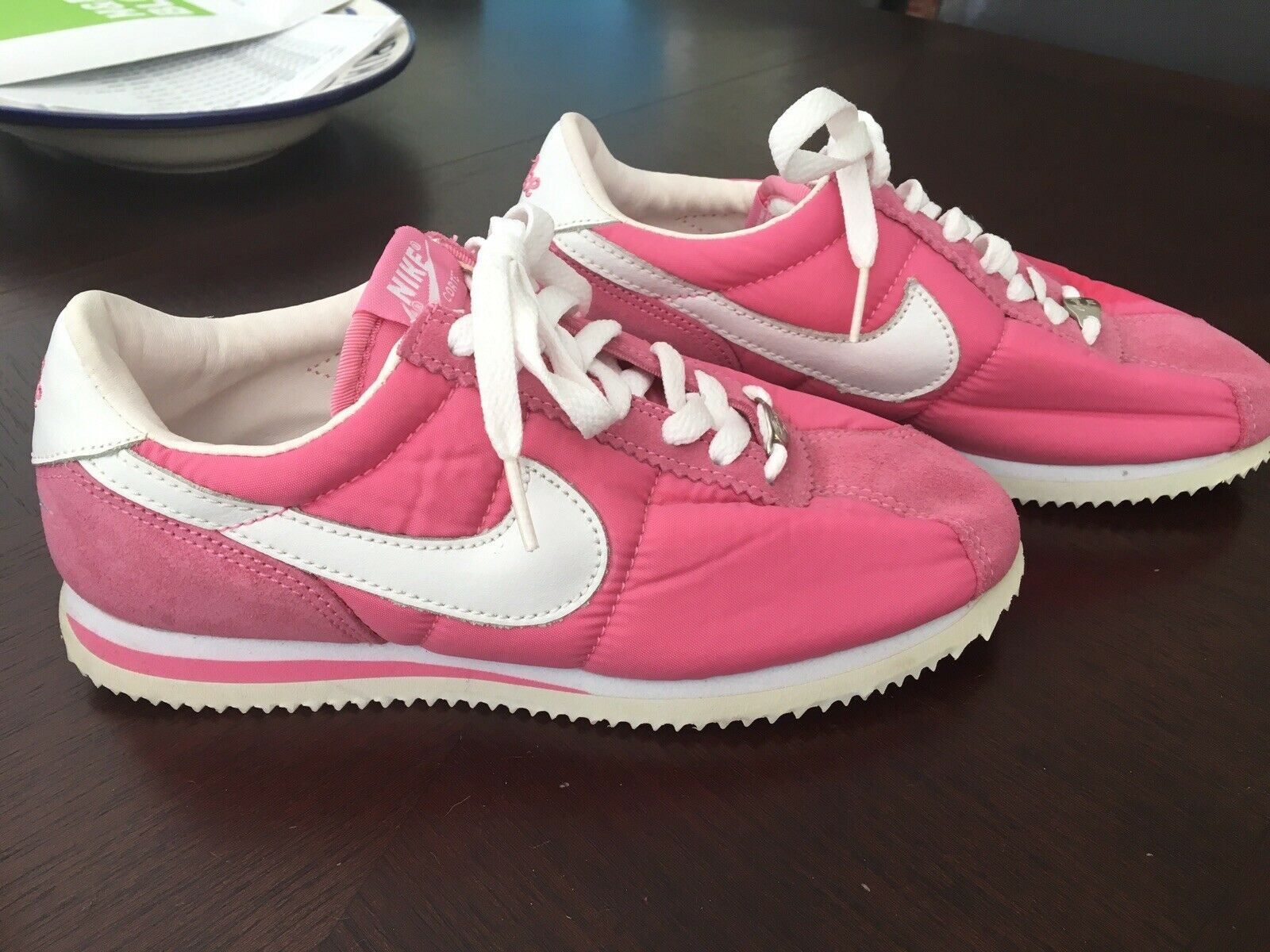 new styles 56bbe 84868 New Rare Nike Cortez 2003 2003 2003 Nylon Pink Gym shoes ...