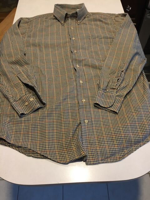 Vtg 90s Viyella Gun Club Check Flannel Button Down Shirt M Wool Blend Trad Ebay