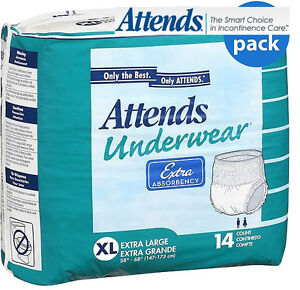 ATTENDS SUPER Absorbency Diaper Brief ALL SIZES Adult