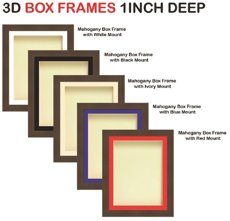 1 in (environ 2.54 cm) cm) cm) Deep 3D SHADOW BOX photo souvenir memorabilia acajou cadres | Online Store  2bf5f3