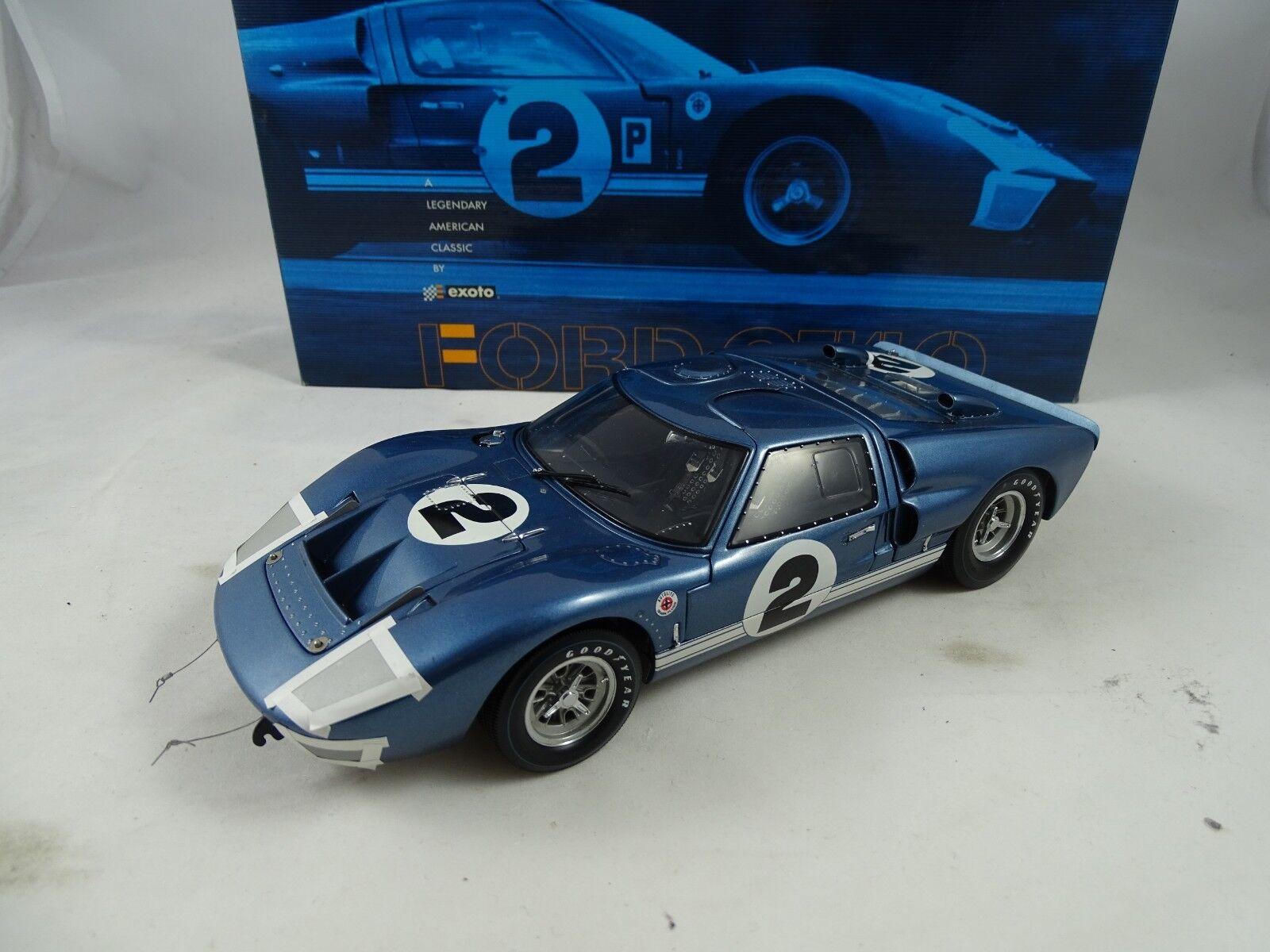 1 18 Exoto Ford GT40 Mkii Gurney   Grant 12H Sebring 1966 Rareza